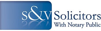 S & V Solicitors Logo